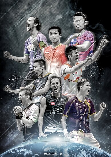 Quot Badminton Legends Edit Quot Poster By Robspink Redbubble