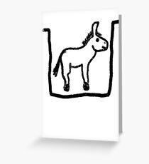 Donkey pit Greeting Card