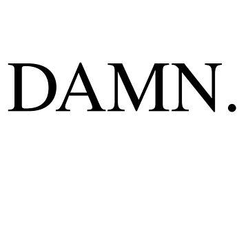 DAMN Kendrick Lamar by electricgrey