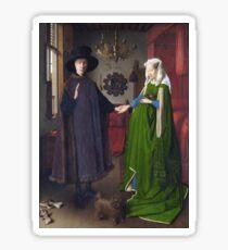 Jan Van Eyck - Giovanni Arnolfini And His Bride (The Arnolfini Marriage) Sticker