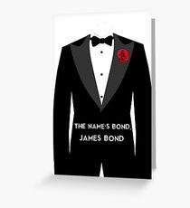 The Name's Bond, James Bond Greeting Card