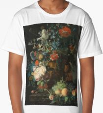 Jan Van Huysum - Still Life With Flowers And Fruit  1721 Long T-Shirt