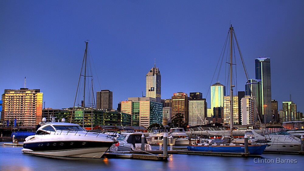 Melbourne from Victoria Harbour by Clinton Barnes