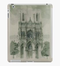 Draw Gothic Cathedrale Notre Dame in Reims iPad Case/Skin