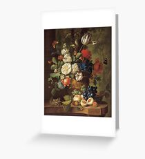 Jan Van Os - Flowers Greeting Card