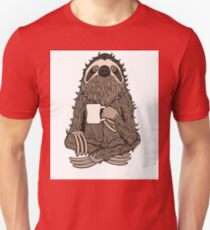 Bearded Coffee Sloth Unisex T-Shirt