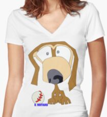 Fetch Women's Fitted V-Neck T-Shirt