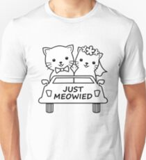 Funny Just Meowied Married Cat Lover Unisex T-Shirt