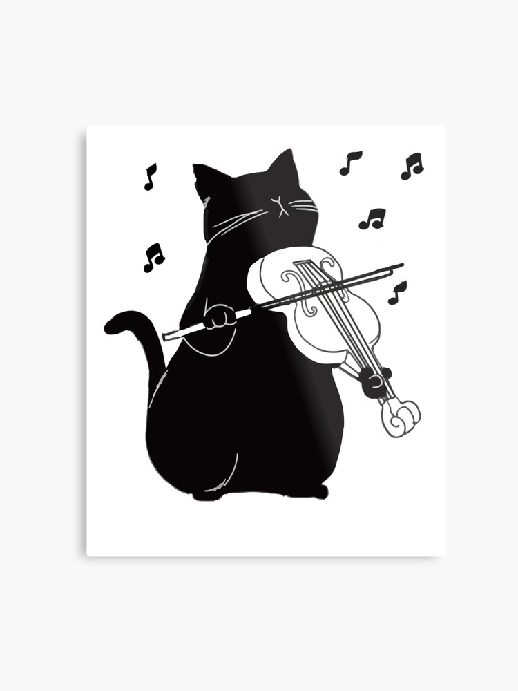 1ac7c478 Black Cat Playing Violin Funny Musician Gift