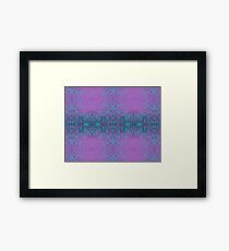 Dreamy turquoise and purple spirals Framed Print