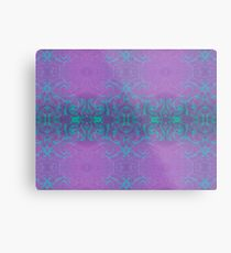 Dreamy turquoise and purple spirals Metal Print