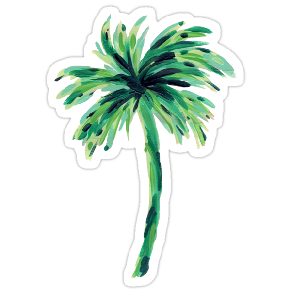 Quot Palm Tree Quot Stickers By Mjfoery Redbubble