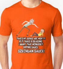 Rick and Morty -  Szechuan sauce! Unisex T-Shirt