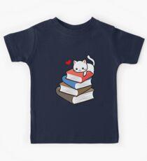 Cat Book Nerd Reader On Books Cute Geek Funny Kids Clothes