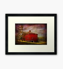 Farm - Barn - Red round barn  Framed Print