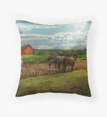 Country - Ringoes, NJ - Preparing for crops Throw Pillow