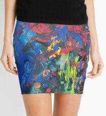 Psychedelic Paint Splash Mini Skirt
