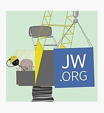 JW.ORG Crane Photographic Print