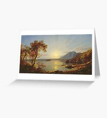 Jasper Francis Cropsey - Sunset, Lake George, New York Greeting Card