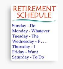 Retirement Gifts Canvas Print