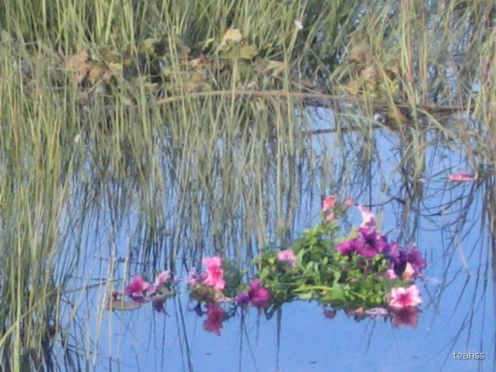 Flowers thrown into The Atlantic Ocean by teahss