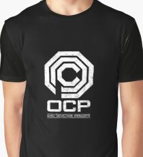 Robocop - OCP Omni Consumer Products White Distressed Variant Graphic T-Shirt