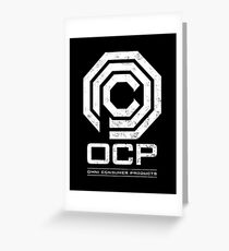 Robocop - OCP Omni Consumer Products White Distressed Variant Greeting Card