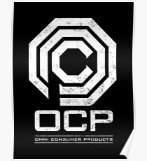 Robocop - OCP Omni Consumer Products White Distressed Variant Poster