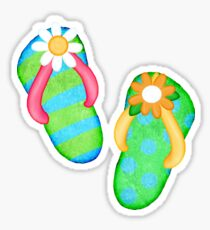Flip Flop Frenzy Sticker