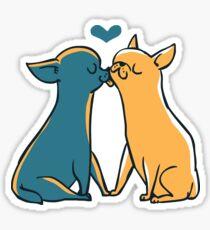 Chihuahua Kisses Sticker