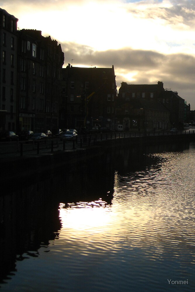 Sunset on the Water of Leith by Yonmei