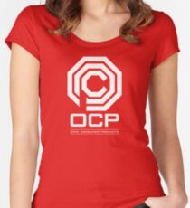 Robocop - OCP Omni Consumer Products White Women's Fitted Scoop T-Shirt