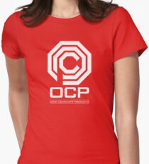 Robocop - OCP Omni Consumer Products White Women's Fitted T-Shirt
