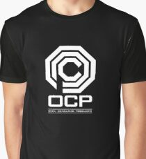 Robocop - OCP Omni Consumer Products White Graphic T-Shirt