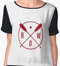 Row - Rowing Sign Emblem - Rower Gift Women's Chiffon Top