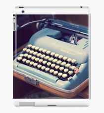 Vintage Baby Blue Typewriter iPad Case/Skin