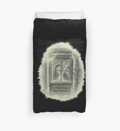 Horror At The Window Duvet Cover