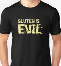 Gluten is evil - funny humor gluten free  Unisex T-Shirt