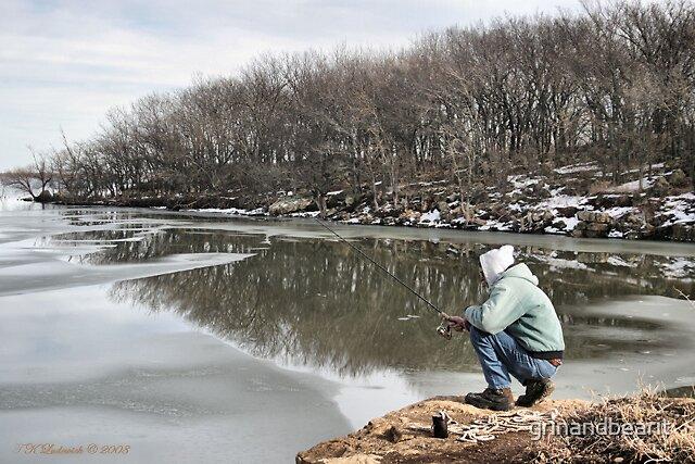 Ice Fishing by grinandbearit
