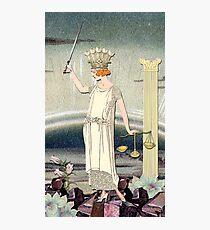 JUSTICE TAROT CARD Photographic Print