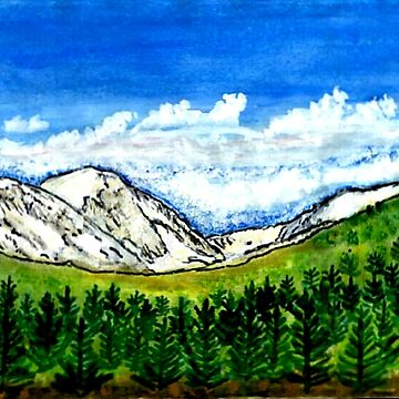 "The MUSEUM Artist Series jGibney Breckenridge CO Art1 Giclee Canvas Artist Series jGibney Breckenridge CO Photo Art1 Giclee Canvas jGibney breck1999art300dpi 78"" x 40"" by TheMUSEUM"