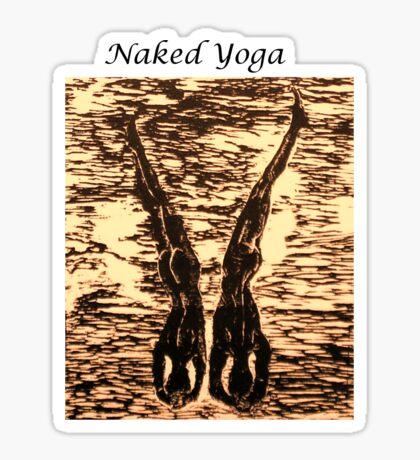 Naked Yoga Sticker