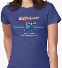 Shovel Man Womens Fitted T-Shirt
