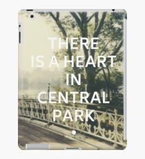 New York (There is a Heart in Central Park) iPad Case/Skin