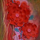 Winters red loving embrace, I love me by lizzymasonart