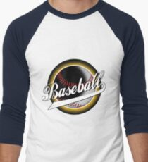 Baseball White Men's Baseball ¾ T-Shirt