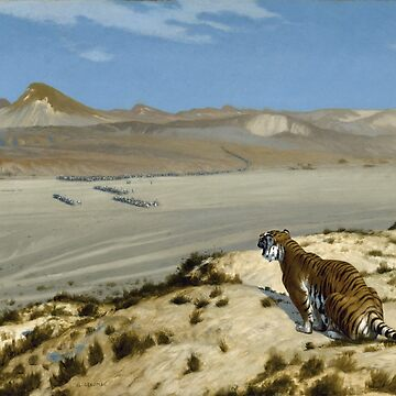 Jean - Leon Gerome - Tiger On The Watch by artcenter
