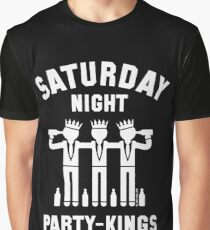 Saturday Night Party-Kings (White) Graphic T-Shirt