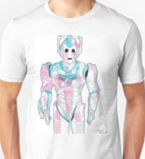 Cyberman - Red and Blue Unisex T-Shirt
