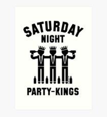 Saturday Night Party-Kings (Black) Art Print